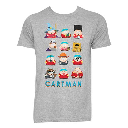 SOUTH PARK Cartman Costumes Grey Tee Shirt