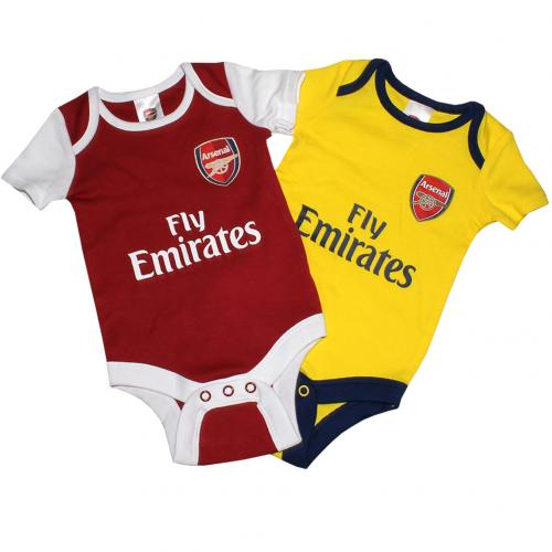 Arsenal F.C. 2 Pack Bodysuit 12/18 mths DR
