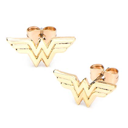 WONDER WOMAN Golf Plated Stud Earrings