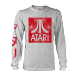 Atari Long Sleeves T-shirt Box Logo Grey