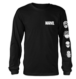 Marvel Comics Long Sleeves T-shirt Stacked Heads