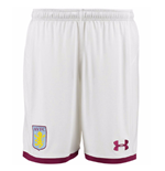 2017-2018 Aston Villa Home Football Shorts (White)