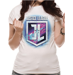Justice League Movie - Purple Shield - Women Fitted T-shirt White