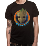 Guardians Of The Galaxy 2 - Groot Circle - Unisex T-shirt Black