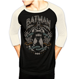 Batman - Scrolls - Unisex Baseball Shirt Black