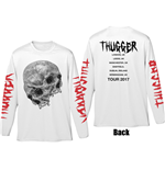 Young Thug Men's Long Sleeved Tee: Thugger Skull (Back & Sleeve Print)