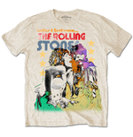 The Rolling Stones Men's Tee: Mick & Keith Watercolour Stars