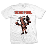 Marvel Comics Men's Tee: Tee: Deadpool Cartoon Bullet