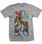 Marvel Comics Men's Tee: Panels