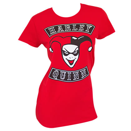 HARLEY QUINN Red Ladies Tee Shirt