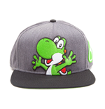 NINTENDO Super Mario Bros. Yoshi and Egg Snapback Baseball Cap, One Size, Multi-colour