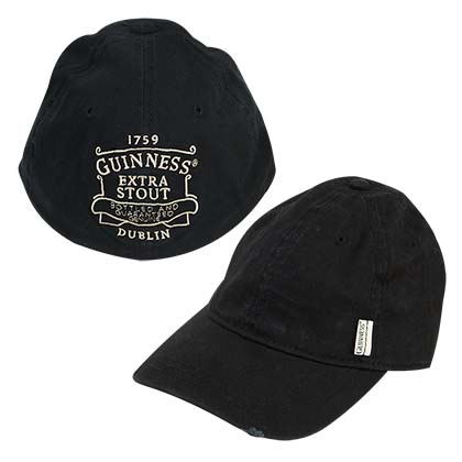 GUINNESS Black Baseball Hat