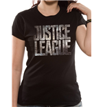 Justice League Movie - Logo - Women Fitted T-shirt Black