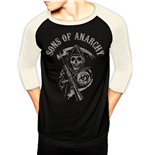 Sons Of Anarchy - Logo - Unisex Baseball Shirt Black