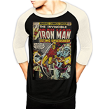 Marvel Comics - Ironman Comics - Unisex Baseball Shirt Black