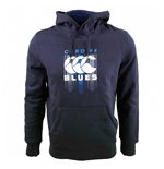 2017-2018 Cardiff Blues Rugby Large Logo Hoody (Peacot)