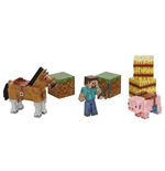 Minecraft Action Figures 3-Pack Saddle Pack 8 cm