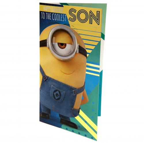 Despicable Me 3 Minion Birthday Card Son