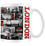 London Mug - Red Collage