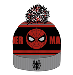 Spider-Man Beanie Knitted Logo & Face