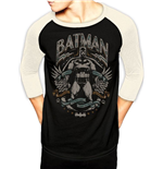 DC Comics Baseball Long Sleeve Shirt Batman Scrolls
