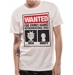 Rick And Morty - Wanted - Unisex T-shirt White