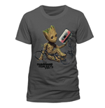 Guardians of the Galaxy 2 T-Shirt Groot & Tape Charcoal