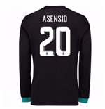 2017-18 Real Madrid Away Long Sleeve Shirt (Asensio 20)