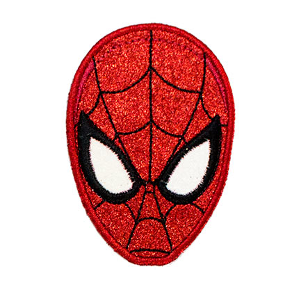 SPIDERMAN Mask Glitter Patch