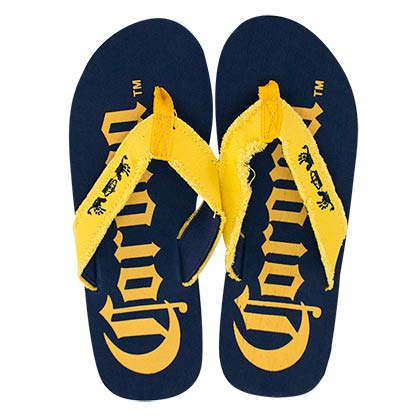 d64cfcf55215 Buy Official CORONA EXTRA Men s Big Logo Blue Flip Flops