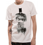 Justice League Movie - Batman Silhouette - Unisex T-shirt White