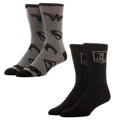 JUSTICE LEAGUE Black Ankle Socks Set
