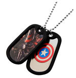 Captain America Dog Tag Necklace 276037