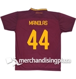 AS Roma Home 2017/2018 Replica Jersey Manolas 44