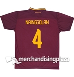 AS Roma Home 2017/2018 Replica Jersey Nainggolan 4