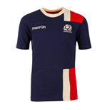 2016-2017 Scotland Macron Travel Cotton T-Shirt (Navy) - Kids