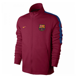 2017-2018 Barcelona Nike Authentic Franchise Jacket (Red)