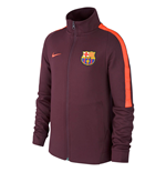 2017-2018 Barcelona Nike Authentic Franchise Jacket (Night Maroon) - Kids