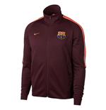2017-2018 Barcelona Nike Authentic Franchise Jacket (Night Maroon)