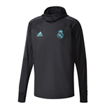 2017-2018 Real Madrid Adidas Warm Up Top (Black)