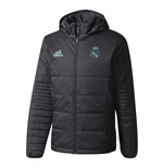 2017-2018 Real Madrid Adidas Padded Winter Jacket (Black)