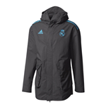 2017-2018 Real Madrid Adidas EU Allweather Jacket (Black)