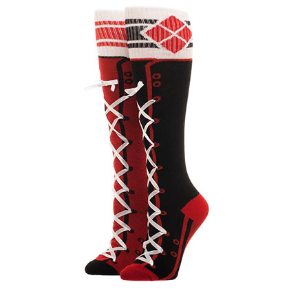 HARLEY QUINN Sporty Lace Up Women's Knee High Socks