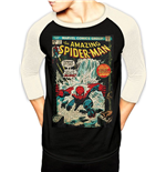 Marvel Comics Baseball Long Sleeve Shirt Spider-Man Comic