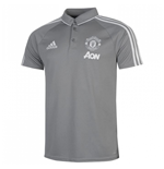 2017-2018 Man Utd Adidas Training Polo Shirt (Grey) - Kids