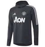 2017-2018 Man Utd Adidas Warm Up Top (Night Grey)
