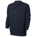 2017-2018 PSG Nike Crew Neck Sweat Top (Navy)