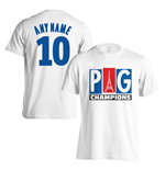 PSG Champions T-Shirt (Your Name) - White (Kids)