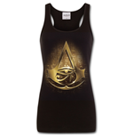 Origins Logo - Assassins Creed Razor Back Top Black