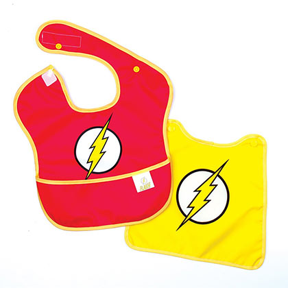 The FLASH Costume Caped Bib